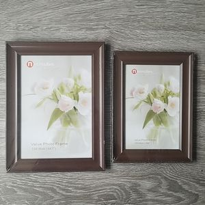 NWT Set of 2 brown picture frames